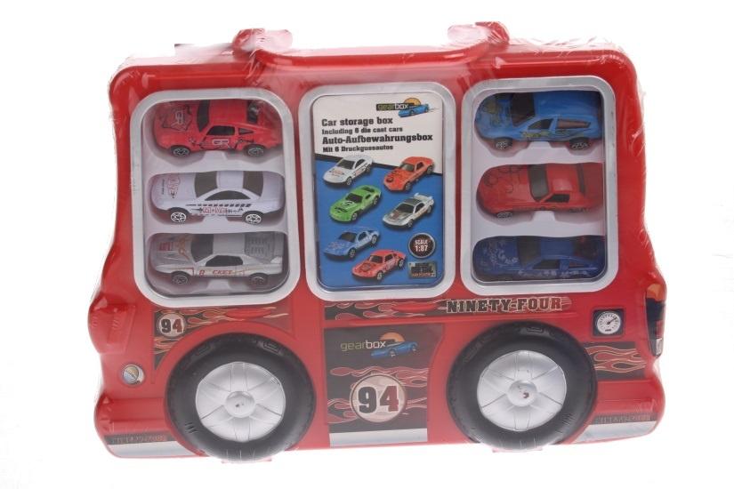Eddy Toys Auto Opbergdoos Rood 7 delig