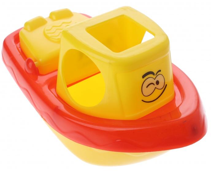 Eddy Toys badspeelgoed boot geel/rood 22 cm