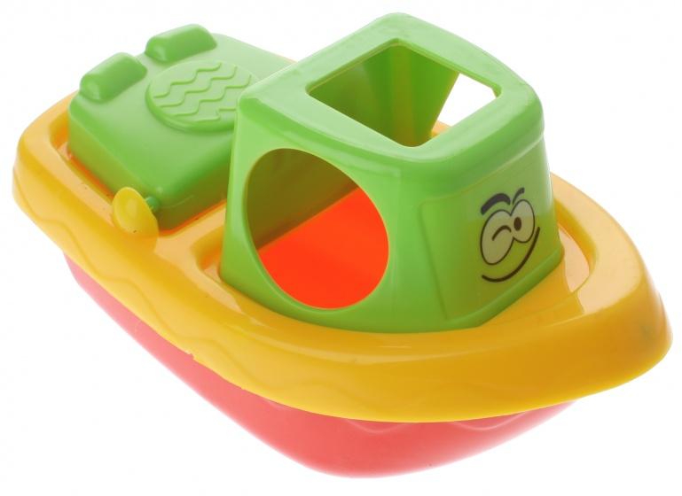 Eddy Toys badspeelgoed boot groen/geel 22 cm