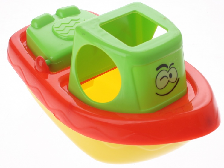 Eddy Toys badspeelgoed boot groen/rood 22 cm