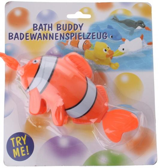 Eddy Toys badspeelgoed zwemmende clownvis 17 cm