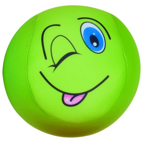 Eddy Toys bal met smiley pluche groen 15 cm
