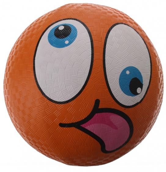 Eddy Toys bal smiley rubber oranje 22 cm