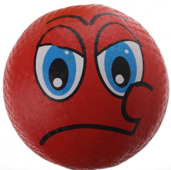 Eddy Toys bal smiley rubber rood 22 cm