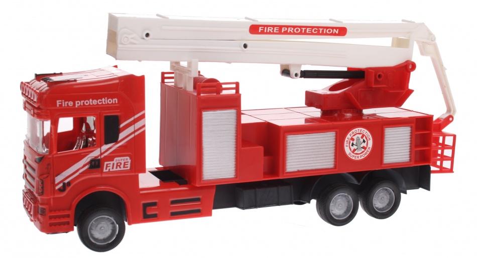Eddy Toys Brandweerwagen Kraan Rood 30 cm