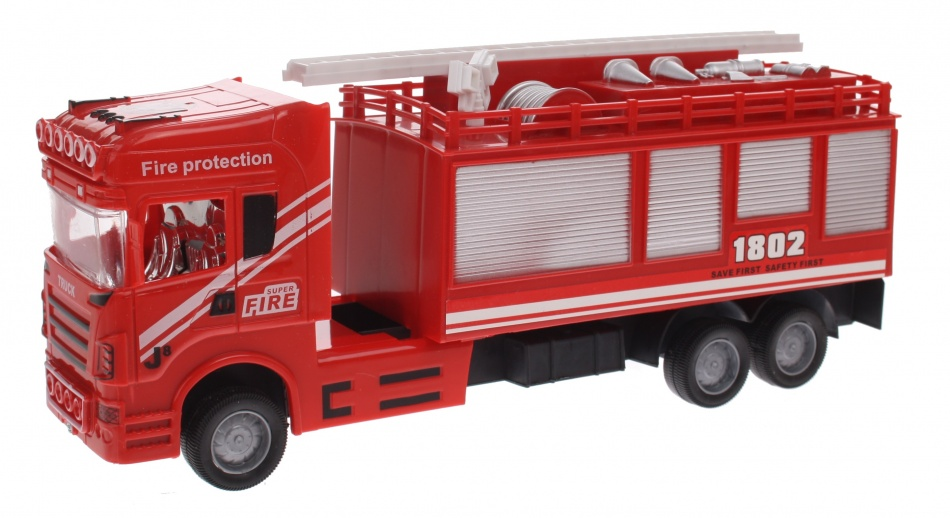 Eddy Toys Brandweerwagen Ladder Rood 30 cm