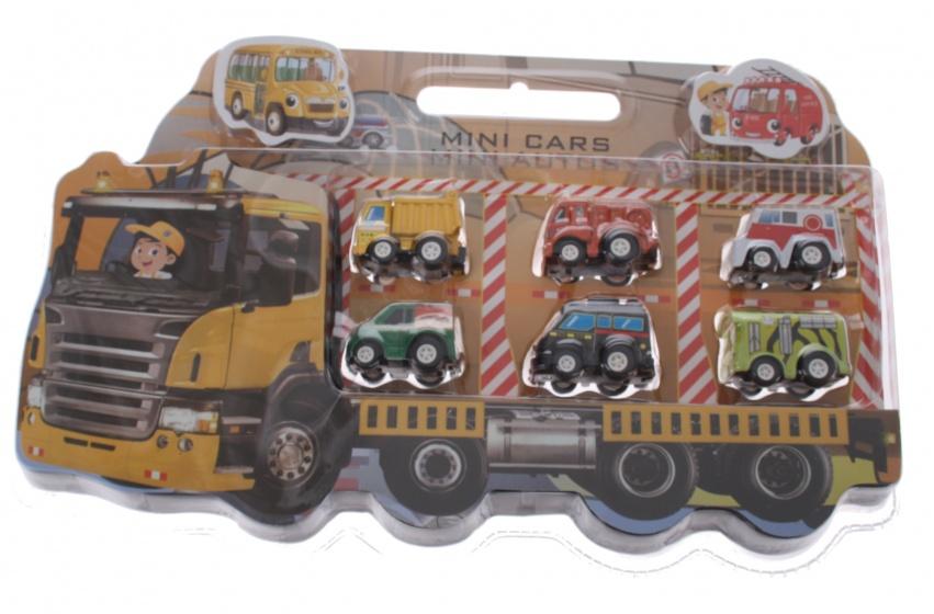 Eddy Toys cadeauset met 6 autos jongens oranje