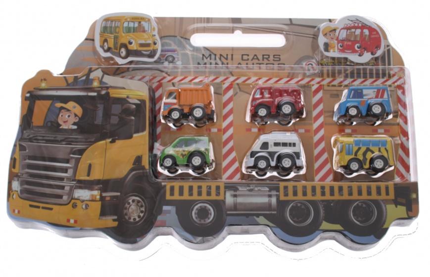 Eddy Toys cadeauset met 6 autos jongens geel