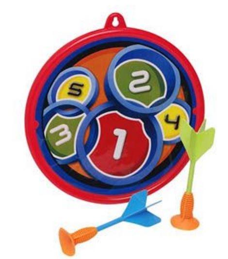 Eddy Toys Dart game met pijlen rood/blauw