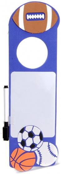 Eddy Toys deurhanger met stift blauw 30 x 10 cm