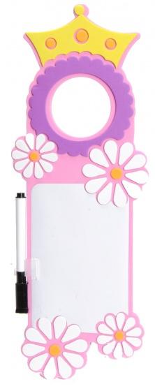 Eddy Toys deurhanger met stift roze 30 x 10 cm