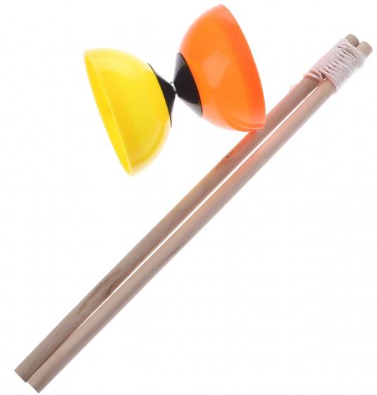 Eddy Toys diabolo 10 cm oranje/geel