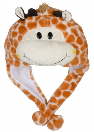 Eddy Toys Dierenhoed pluche giraf bruin