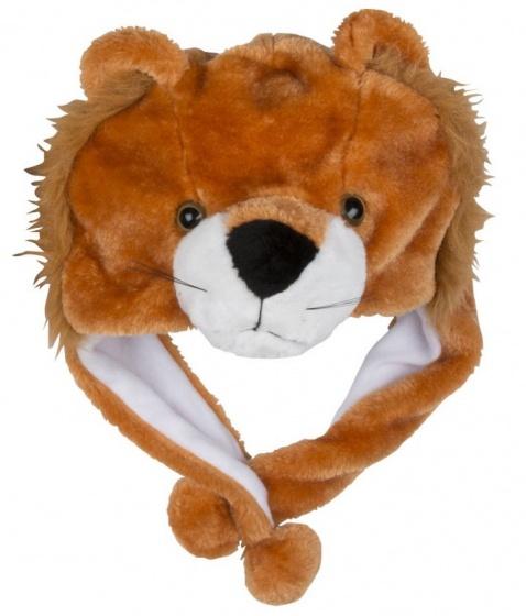 Eddy Toys Dierenhoed pluche leeuw bruin