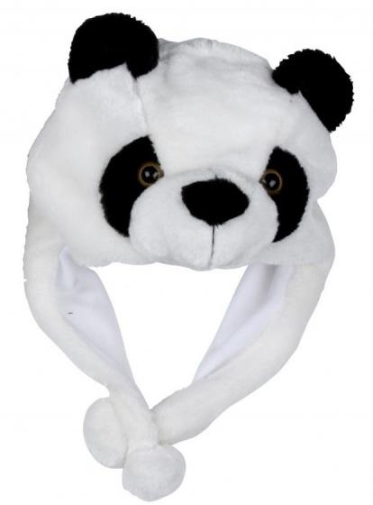 Eddy Toys Dierenhoed pluche panda zwart/wit