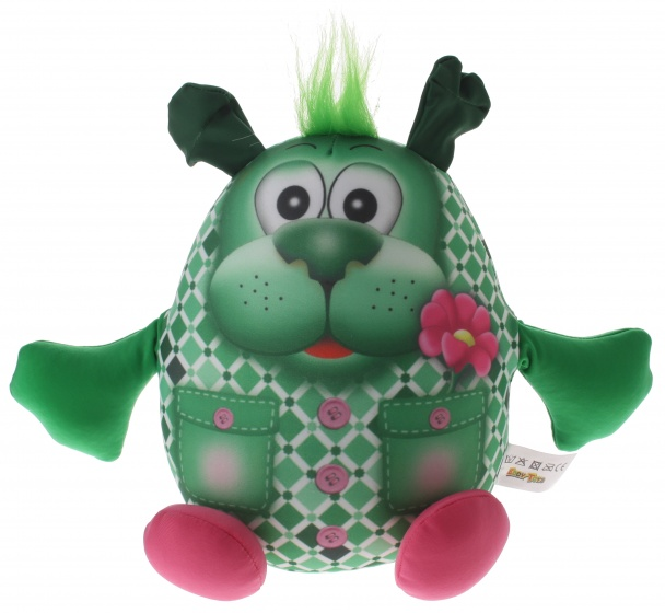 Eddy Toys Dierenvriend knuffel hond 20 cm groen