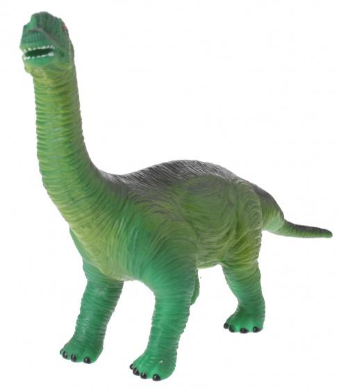Eddy Toys dinosaurus met geluid bruin/groen 32 cm
