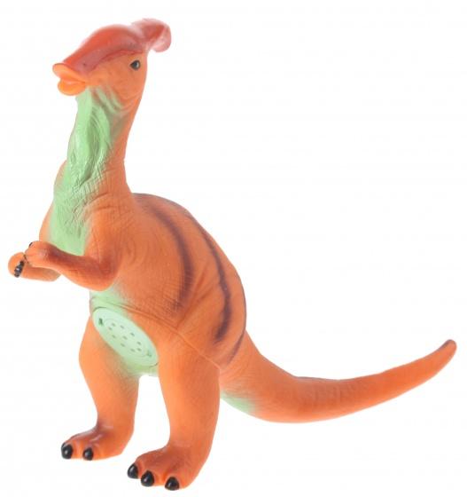 Eddy Toys dinosaurus met geluid oranje 32 cm