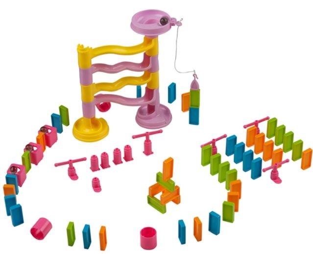 Eddy Toys Dominoset Glijbaan 82 delig