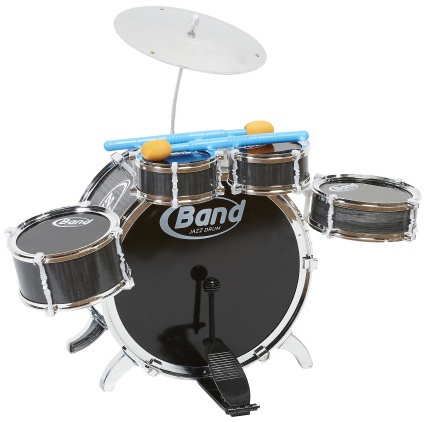 Eddy Toys Drumset 6 delig zwart