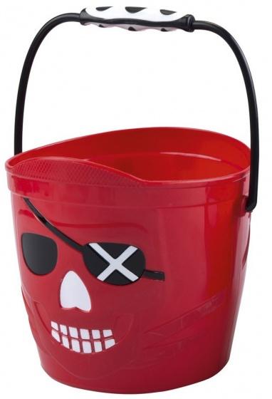 Eddy Toys emmer piraten jongens 19 x 18 cm rood
