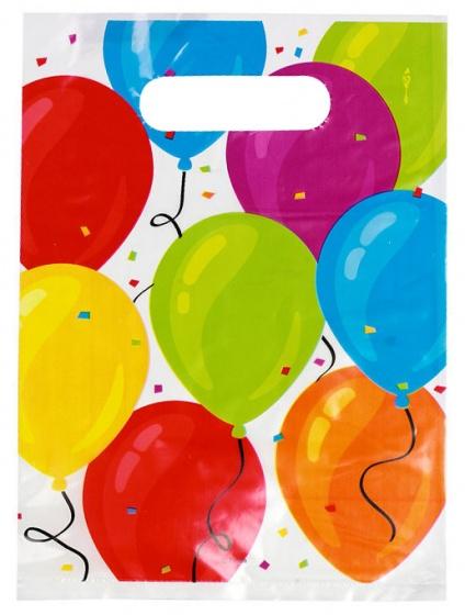 Eddy Toys feestzakjes ballonnen 23 x 16 cm 6 stuks