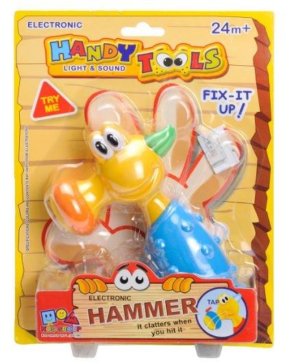 Eddy Toys Gereedschap: Hamer kunststof blauw/groen