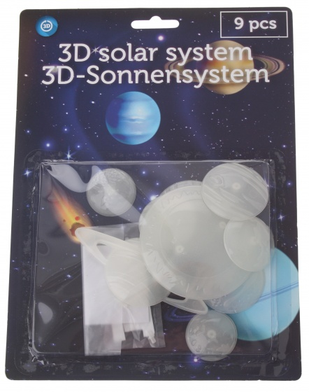 Eddy Toys glow in the dark planeten 9 delig
