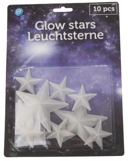 Eddy Toys glow in the dark sterren 10 delig