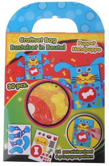 Eddy Toys handpop knutselset hond 30 delig