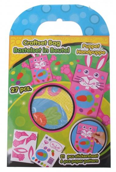 Eddy Toys handpop knutselset konijn 27 delig