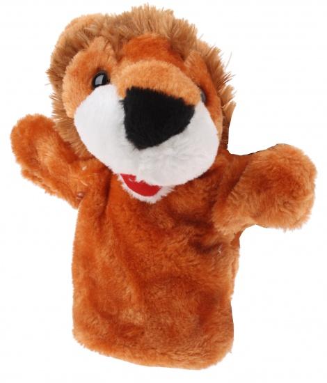 Eddy Toys Handpop Leeuw 23 cm bruin