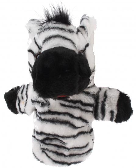 Eddy Toys Handpop Zebra 23 cm wit/zwart