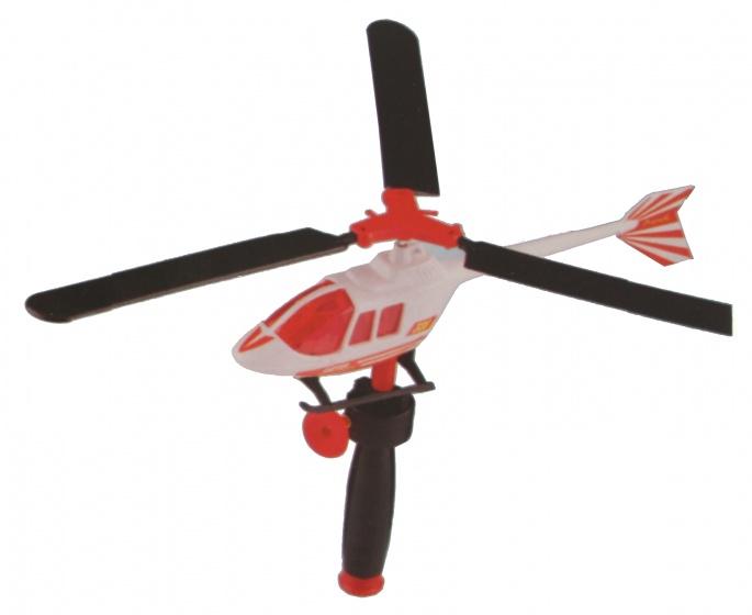 Eddy Toys Helikopter met trekkoord 30 cm wit