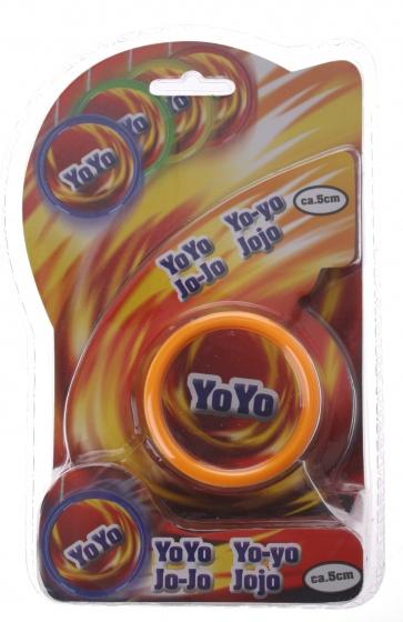 Eddy Toys jojo kunststof oranje 5 cm