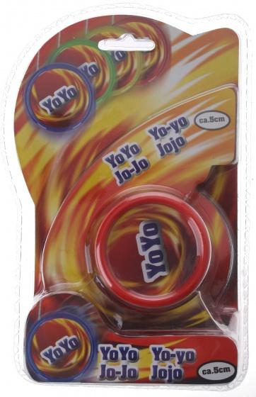 Eddy Toys jojo kunststof rood 5 cm