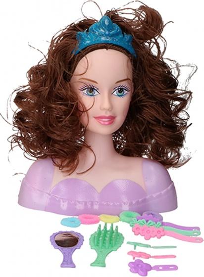 - Eddy Toys kaphoofd haar 24 cm 15 delig