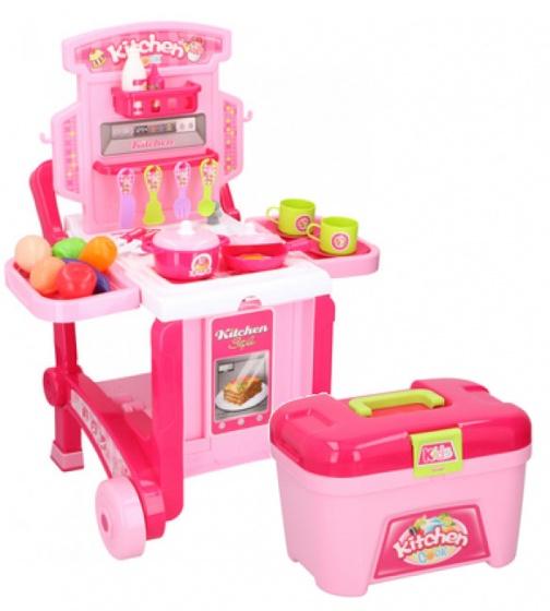 Eddy Toys keukenspeelset meisjes roze 40 delig