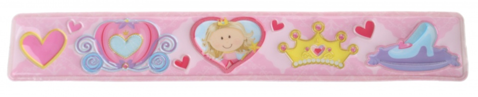 Eddy Toys klaparmband baby meisjes lichtroze 22 x 3,5 cm