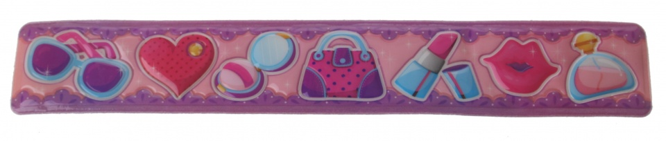 Eddy Toys klaparmband beauty meisjes paars/roze 22 x 3,5 cm