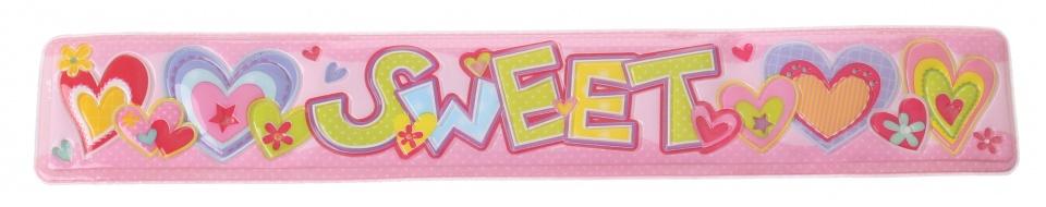 Eddy Toys klaparmband sweet meisjes lichtroze 22 x 3,5 cm