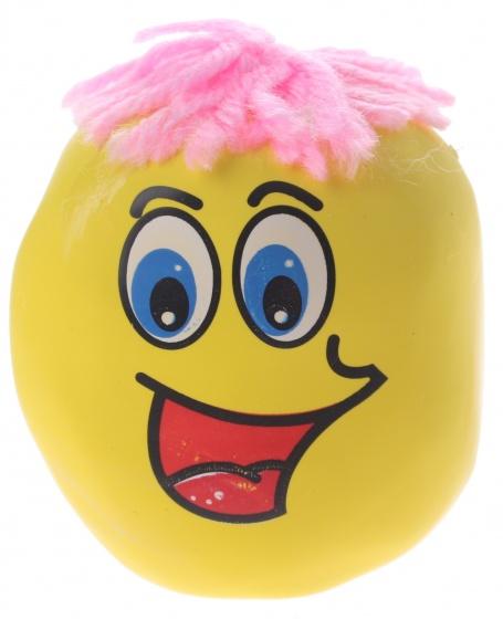 Eddy Toys kneedfiguur smiley geel 6 cm
