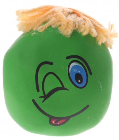 Eddy Toys kneedfiguur smiley groen 6 cm