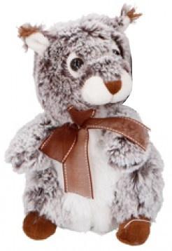 Eddy Toys knuffel eekhoorn grijs 19 cm