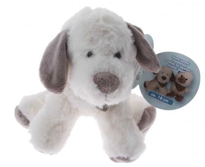 Eddy Toys knuffel hond pluche 18 cm
