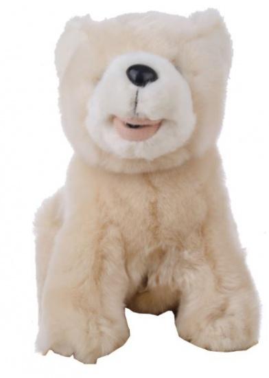 Eddy Toys Knuffel met geluid Ijsbeer 20 cm bruin