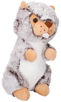 Eddy Toys knuffel otter grijs 19 cm