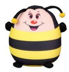 Eddy Toys Knuffel Pluche Bij 21 cm geel/zwart