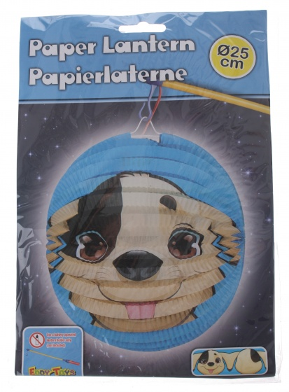 Eddy Toys lampion hond papier 25 cm