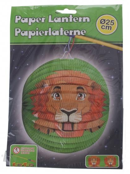 Eddy Toys lampion leeuw papier 25 cm